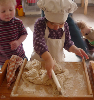 2-Year-Old, Baking in Sweden