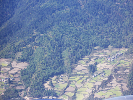 Bhutan from the air