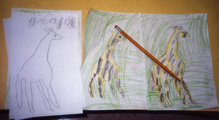 Child's drawing of Giraffe