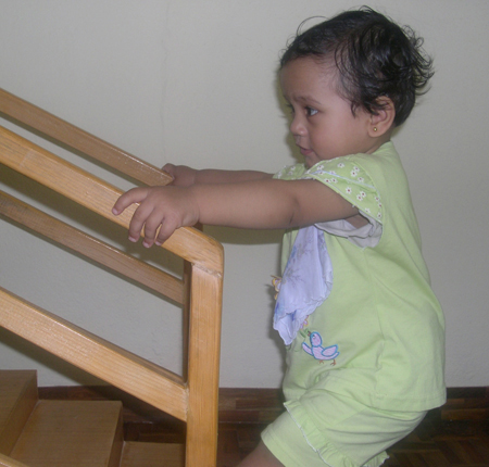 Learning to walk upstairs