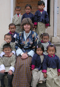 children of bhutan with susan